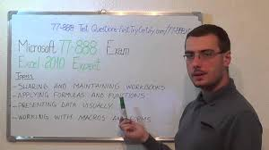 77 888 u2013 microsoft exam excel 2010 test expert questions youtube