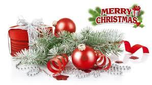 happy holidays merry decorative balls card