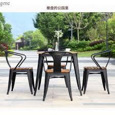 ro 8099 china outdoor furniture set outdoor metal wood table and