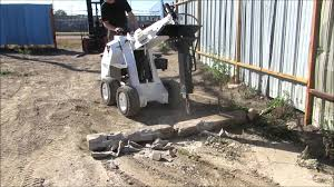 ramrod mini skid loader 950 with hydraulic hammer attachment youtube