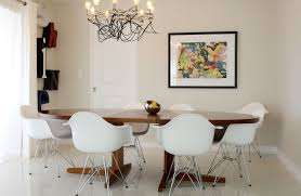 mid century modern dining chairs white