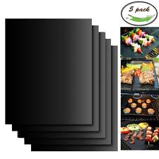 featured product aoocan grill mat set of 5 100 non stick bbq