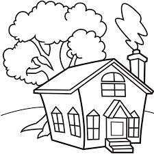 house coloring pages printable kindergarten coloringstar