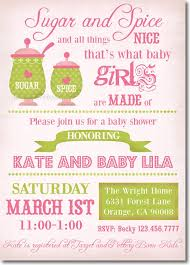 sugar and spice and everything baby shower it s a girl 8 beautiful exles of baby shower invitations