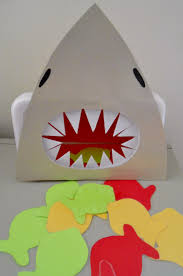 feed the shark preschool activity printable template under the