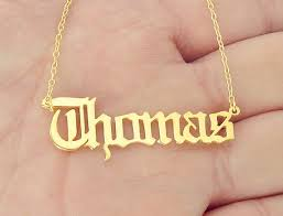 Gold Nameplate Aliexpress Com Buy Gold Name Necklace Personalized Nameplate
