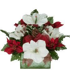 white poinsettia poinsettia and white amaryllis br1649