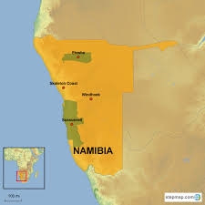Namibia Map Namibia Country Holidays Singapore
