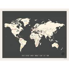 Personalized World Travel Map by All Wall Art Wayfair Vintage Personalized World Travel Map Graphic
