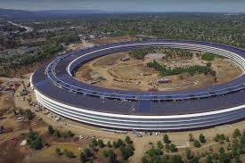 apple headquarters tour new apple park drone footage shows headquarters u0027 final touches