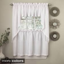 Curtains Valances And Swags Opaque Ribcord Kitchen Curtain Pieces Tiers Valances Swags