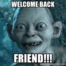 Welcome Back Meme - welcome back friend lord of the rings charachters meme