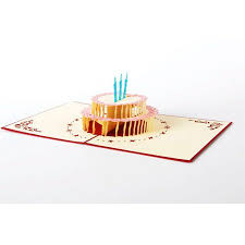 funny birthday cards coxeer cake handmade 3d pop up thank you
