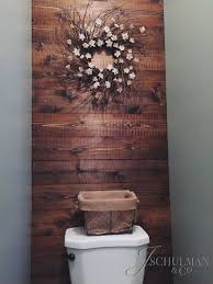 diy pallet or wood panel bathroom accent wall walls of interest