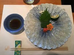 cuisine tessa tessa thin sliced fugu sashimi picture of kisoji chofu branch
