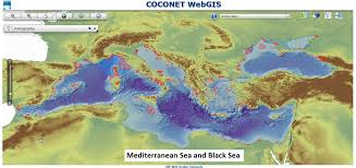 Map Of Mediterranean Sea Coconet Gis