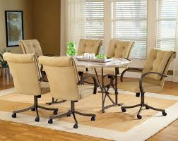 rolling dining room chairs awesome dining room chairs with casters images liltigertoo com