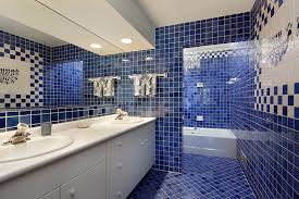 inspiration dark blue bathroom wall tiles with home decorating