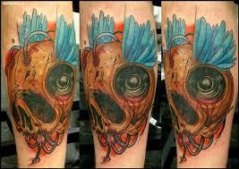 speaker tattoo designs