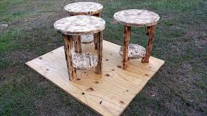 Wood Round End Table Pallet End Tables U0026 Side Tables 99 Pallets
