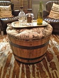 wine barrel end table furniture