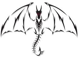 black ink asian tribal dragon tattoo design photos pictures and