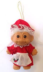 mrs claus troll ornament home kitchen