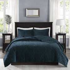 Teal Coverlet Madison Park Emery Teal Velvet Quilted Coverlet Set Free