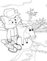 moose keeper coloring page handipoints