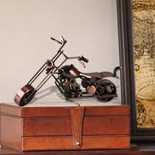vintage harley motorcycle model made home metal craft