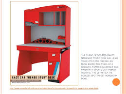 vibrant red racer study desk for young boys