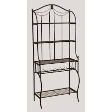 Metal Bakers Rack Bakers Racks Wood Wrought Iron Metal Bakers Rack