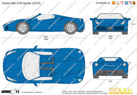 ferrari front drawing the blueprints com vector drawing ferrari 488 gtb spider