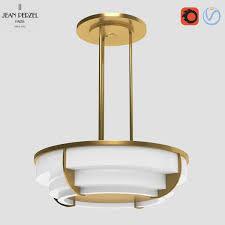 1930s Chandelier by 3d Model Jean Perzel 1930s Hanging Ceiling Light 354 Bis Vr Ar