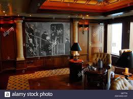 cigar room with photographs of winston churchill on the cunard