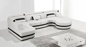 adorable white leather sectional couch ultra modern leather