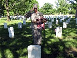 Grave Marker Flags Defense Gov News Article Arlington U0027flags In U0027 Tribute Begins