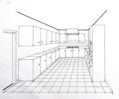 dessiner une cuisine en perspective impressionnant dessiner un meuble en perspective 3 apprendre a