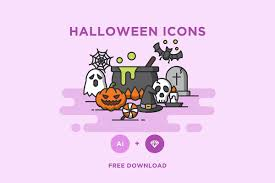 free halloween icons set u2014 creativetacos