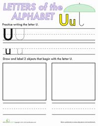 alphabet practice u worksheet education com