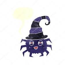 freehand retro cartoon halloween spider u2014 stock vector