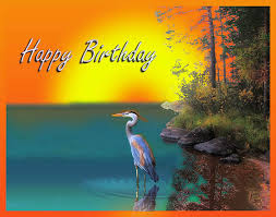 birthday heron on the lake free happy birthday ecards greeting