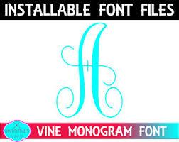 Initial Monogram Fonts Pattern Initials Etsy