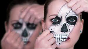 Skeleton Face Painting For Halloween by Ripped Skull Face Paint Tutorial Youtube
