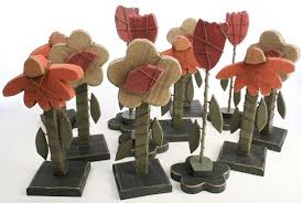 wood flowers set of 12 rustic wood flowers 11 decorative accents