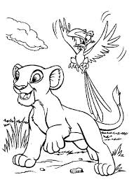 the lion king simba and zazu coloring page birthday ideas