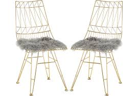 Gold Accent Chair Gold Accent Chairs Set Of 2 With Gray Seat Covers