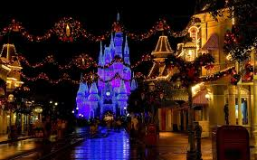 christmas castle disneyland cinderella castle usa florida