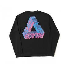 3d sweater pyramid 3d crewneck sweater black