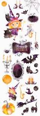 halloween graphic art happy halloween 2 watercolor clipart bat little witch magic